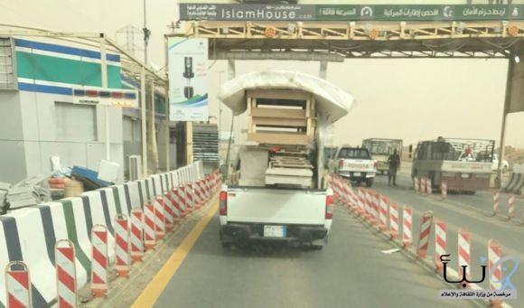 كيف تعبر هذه المركبة من أمام أمن الطرق #الخرح_الرياض