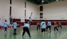 اليوم المباراة النهائية  لبطولة المعلمين لكرة الطائرة  لمداراس الدلم
