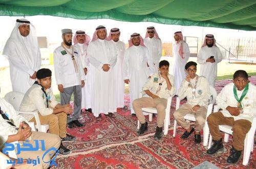 د.العبدالجبار يزور الجناح الكشفي لتعليم الخرج بمدينة الحجاج