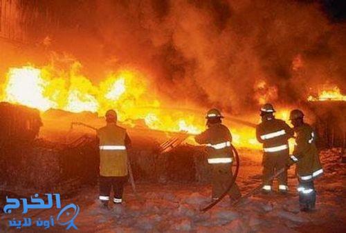 حريق يلتهم 40% من مصنع للمطاط في الأحساء