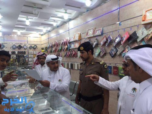 مدير فرع عمل منطقة الرياض يشارك في حملات التفتيش على محلات الاتصالات بالخرج