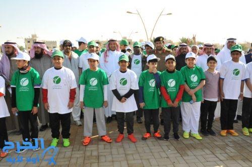 بمسافة 2000م ومشاركة أكثر من 1200 طالب تعليم الخرج ينظم برنامج رياضة المشي