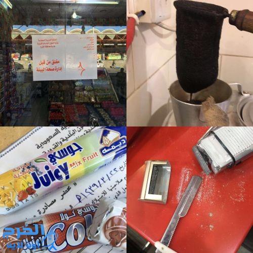 في أكبر حملة تشهدها الخرج إغلاق  13 محل مخالف