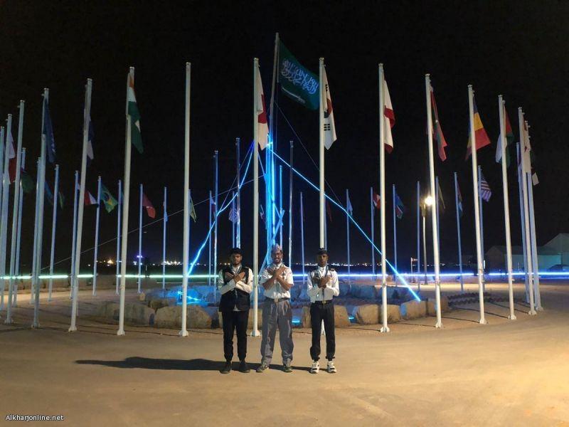 جوالة كلية تقنية الخرج تزور  للمخيم الثالث العالمي لرسل السلام