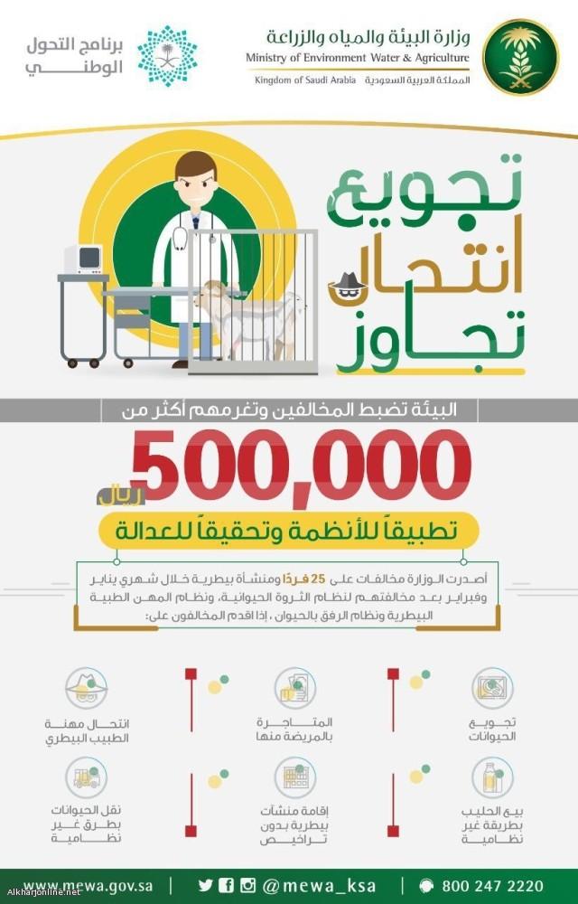 «البيئة»: 565 ألف ريال غرامات لمنتحلي «الطب البيطري» والمتاجرين بـ«المريضة»