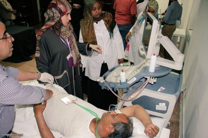 """""""دورة تدريبية على جهاز الموجات الصوتية"""" بمستشفى الملك خالد بالخرج"""