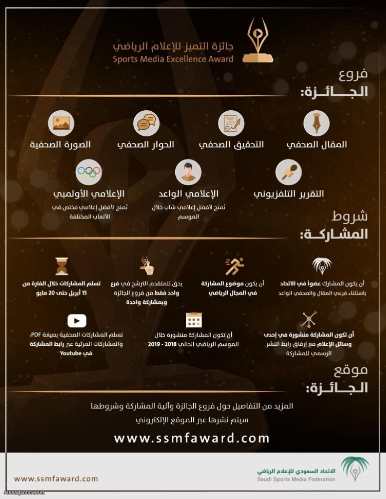 """""""الاتحاد السعودي"""" يطلق """"جائزة التميز للإعلام الرياضي"""" في 7 مجالات"""
