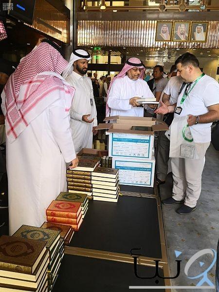 ضيوف المجموعة الـ 14 لبرنامج خادم الحرمين الشريفين يزورون مجمع الملك فهد لطباعة المصحف