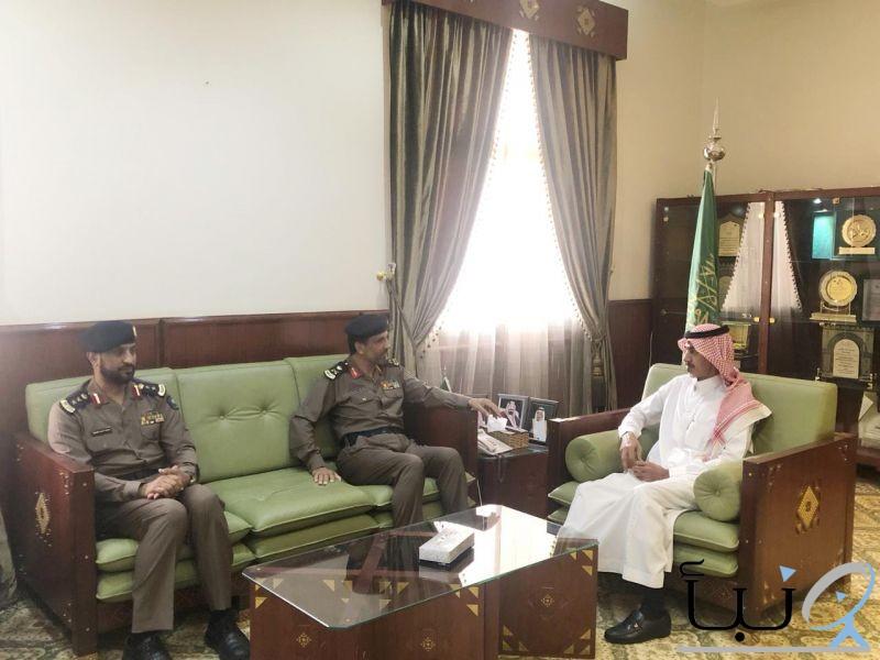 محافظ الخرج  يستقبل مدير الدفاع المدني بمنطقة الرياض