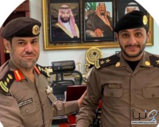 مدير شرطة الخلرج يقلد المالكي رتبته الجديدة