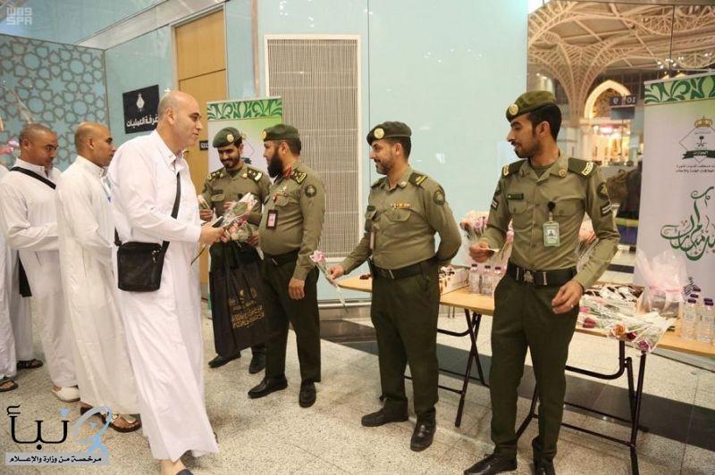 جوازات مطار الأمير محمد بن عبدالعزيز الدولي بالمدينة المنورة تودع طلائع الحجاج المغادرين