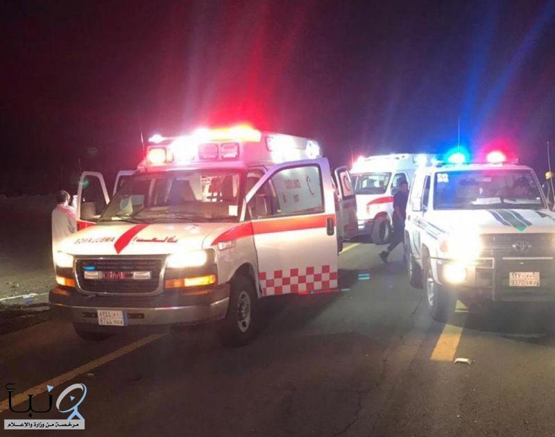 تصادم 7 مركبات يصيب 13 شخص في جدة