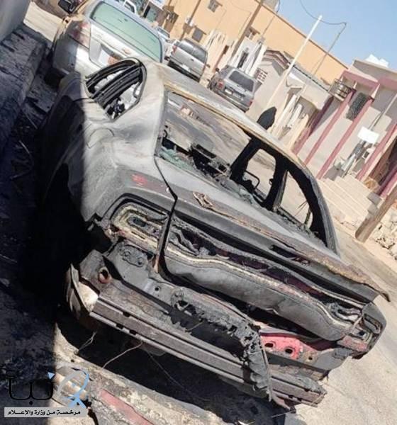 شرطة تبوك تلقي القبض على حارقيّ سيارة «ربى»