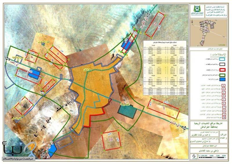 أمانة حفر الباطن تنظم مواقع المخيمات في المحافظة