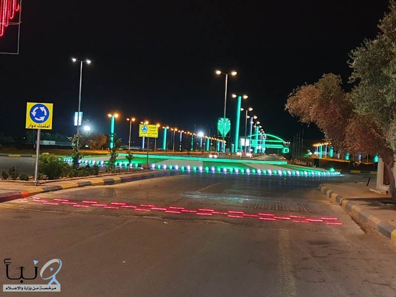 بلدية صوير  تنفذ وسائل السلامة المرورية في الشوارع و الميادين