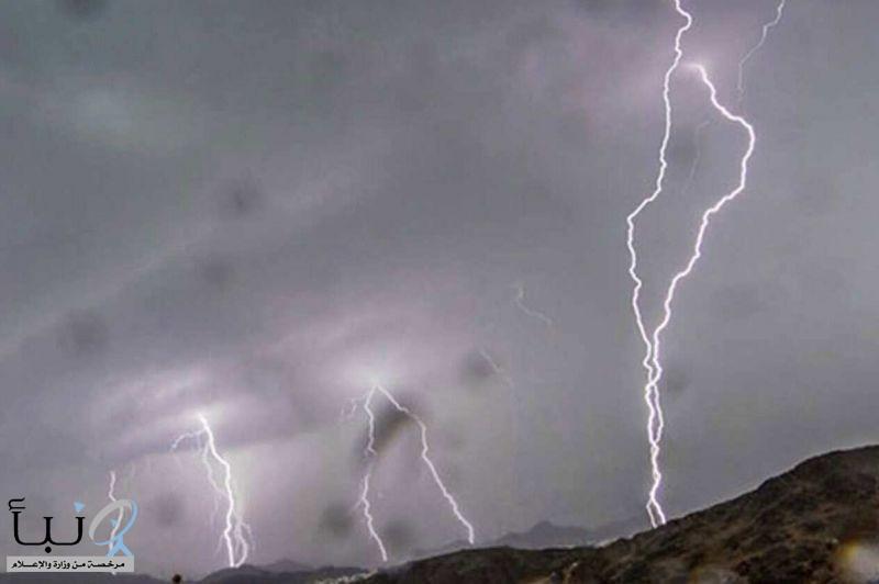 """""""الأرصاد"""": أمطار رعدية على منطقة المدينة المنورة ونجران"""