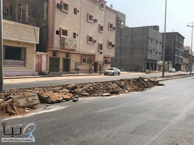 بلدية محافظة الخرج: بدء   أعمال صيانة وكشط طريق الأمير ناصر بن عبدالعزيز