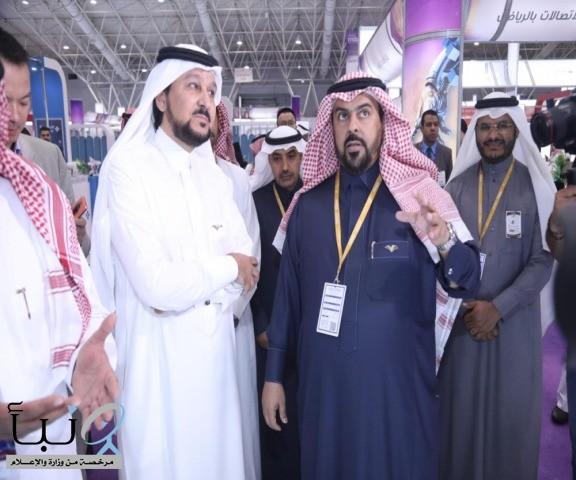 معالي مدير الجامعة يفتتح المعرض السعودي الدولي للاتصالات