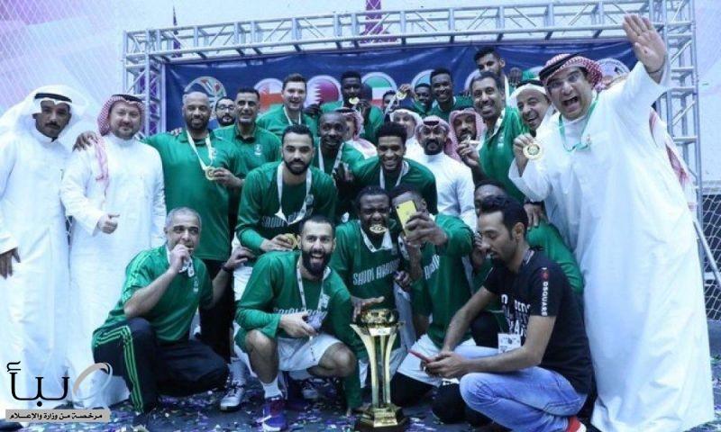 الأخضر لكرة السلة بطلاً لكأس الخليج