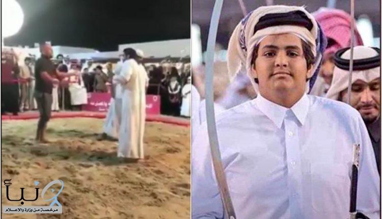 #نجل أمير قطر السابق يعتدي على مصارعٍ بعدما أسقطه على الأرض