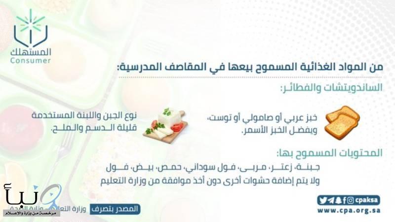 """""""حماية المستهلك"""" توضح شروط بيع المنتجات الغذائية بالمقاصف المدرسية"""