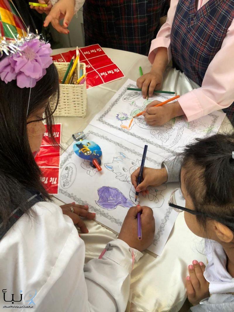 فريق عطاء التطوعي بتقنية البنات بالخرج في زيارة لمركز خطوات الأمل للرعاية النهارية