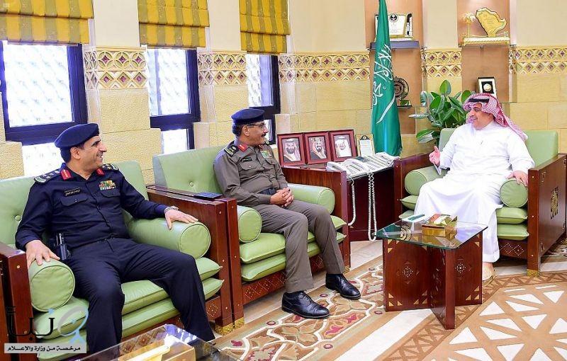 وكيل إمارة منطقة الرياض يستقبل مدير شرطة المنطقة ومدير الإدارة العامة لدوريات الأمن بمنطقة الرياض