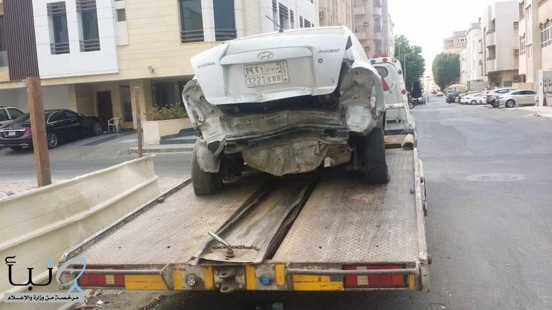 أمانة جدة ترفع ١٤٤٧ سيارة تالفة وخربة خلال شهر مارس الماضي
