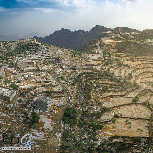 توشح جبال منطقة الباحة البياض