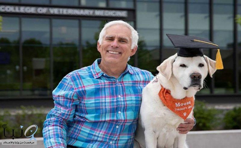 كلب يتحصّل على دكتوراه في الطبّ من جامعة فيرجينيا