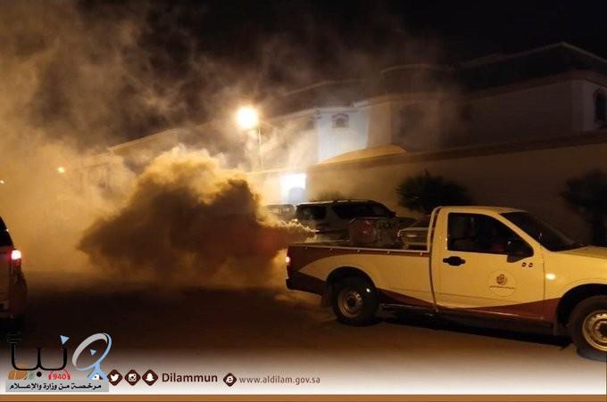#بلدية_محافظة_الدلم  تواصل تكثيف أعمال تعقيم