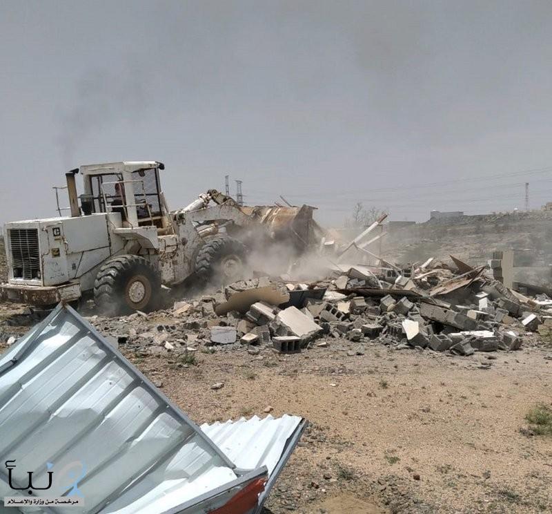 إزالة تعديات على مساحة 300 ألف م2 من الأراضي الحكومية في الطائف