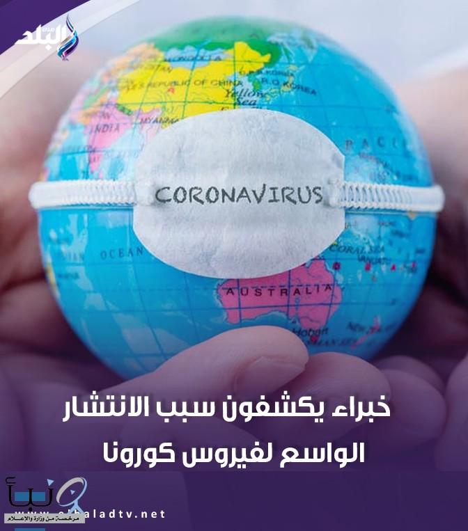 خبراء يكشفون سبب الانتشار الواسع لفيروس كورونا. التفاصيل