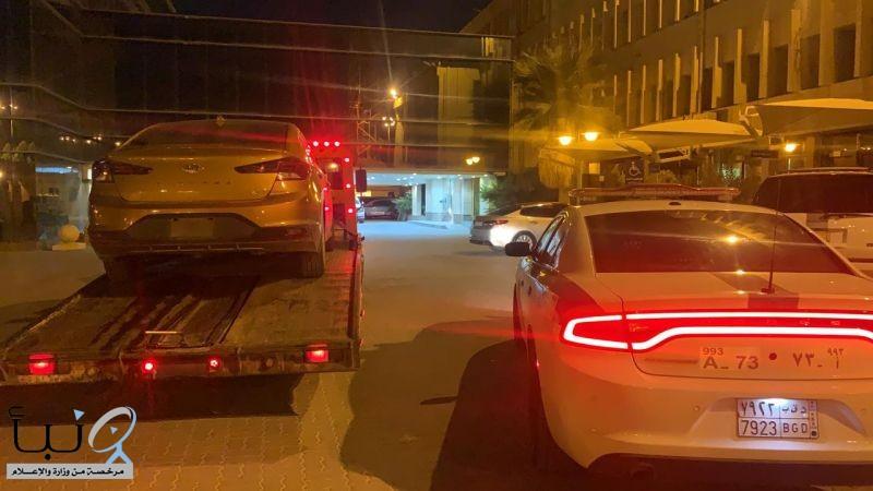 """""""#مرور_الرياض"""" يضبط قائد المركبة الذي قام بممارسة التفحيط متسبباً في حادث مروري"""