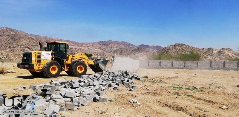 #بلدية جنوب #مكة تزيل تعديات في منطقة الحسينية