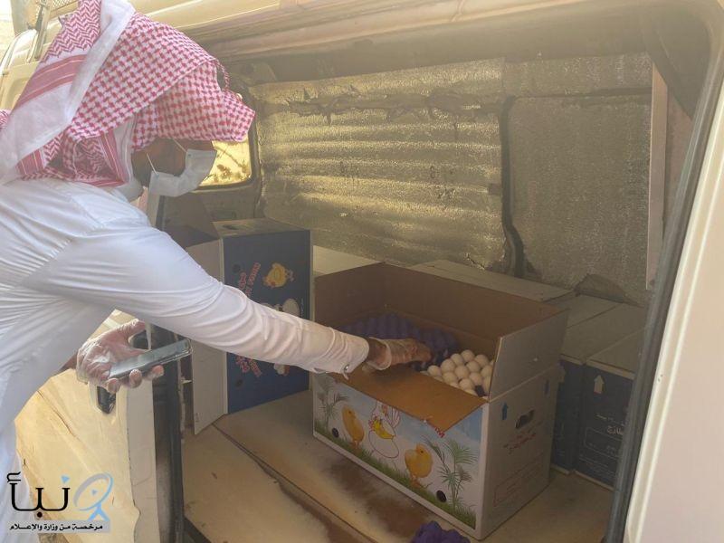 #بلدية_الخرج :ضبط 25 ألف من البيض المخزن بطريقة غير صالحة بداخل أحد البيوت الشعبية