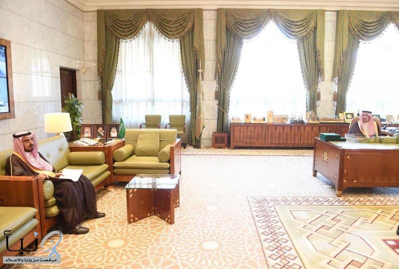 سمو أمير منطقة الرياض يستقبل رئيس جامعة شقراء