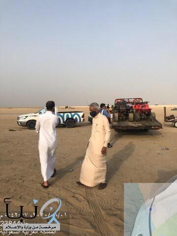 مصادرة 26 من الدراجات النارية المخالفة ب شاطئ خليج سلمان