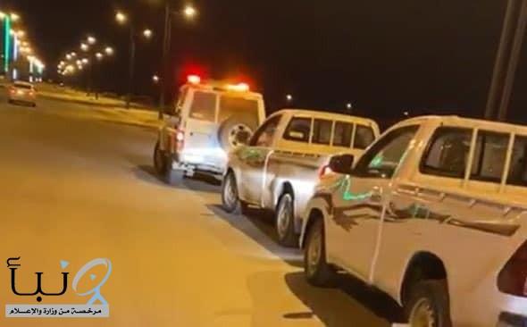#ضبط مركبتين مارس قائديها التفحيط معرضين حياتهما وحياة الآخرين للخطر في #جازان