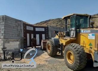 أمانة العاصمة المقدسة تزيل تعديات على أراضي في وادي جليل