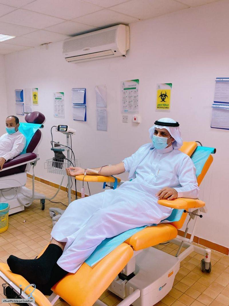 """""""الزايدي"""" يدشن مبادرة """"معلمي محافظة الخرج"""" للتبرع بالدم"""