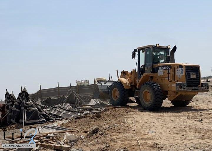 أمانة جدة: إزالة 354 مخيماً مخالفاً على مساحة 424800 م2 بحي السنابل