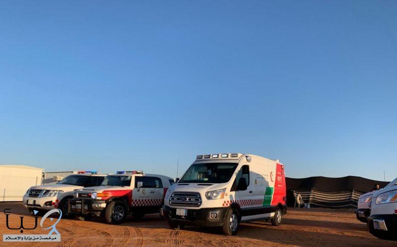الهلال  الأحمر يشارك بمهرجان الملك عبدالعزيز للإبل ويباشر 132 حالة حتى يوم امس