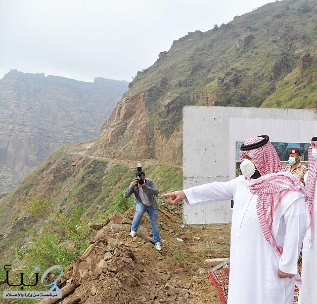 سمو نائب أمير منطقة جازان يتفقد #جبل_القهر