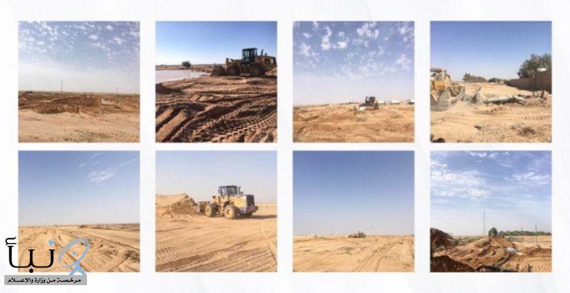 إمارة القصيم تزيل تعديات بمساحة 2.899.500 م2 من مجرى وادي الرمة بالرس