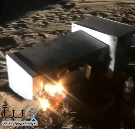 """#عاجل .... القبض على مواطنَيْن أشعلا النيران في كاميرا """"ساهر"""" بالدوادمي"""