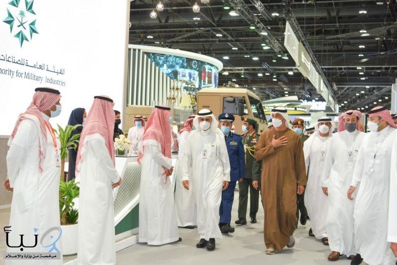 """إقبال دولي على الجناح السعودي المشارك في معرض الدفاع الدولي """"آيدكس 2021"""""""