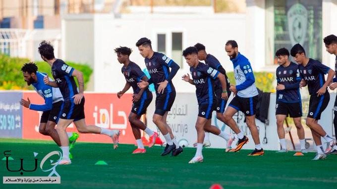 لاعبو #الهلال يعاودون نشاطهم التدريبي