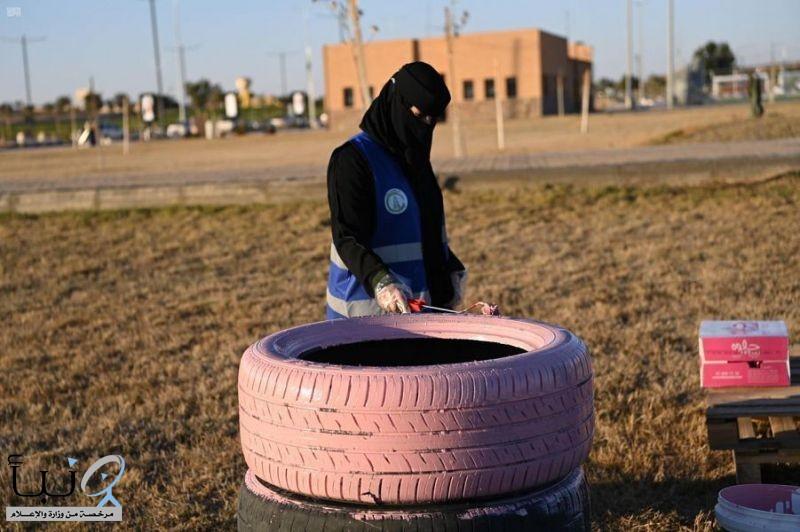 تطوعي أمانة الجوف يشيّد حديقة صديقة للبيئة بإعادة تدوير النفايات