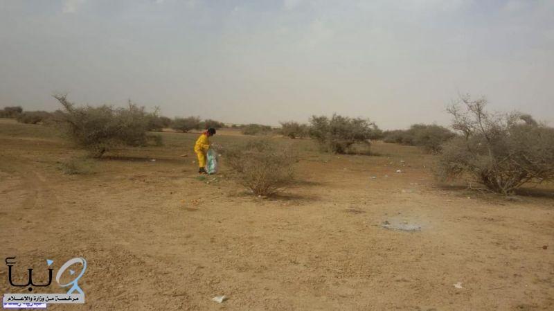 """""""بيئة رفحاء """" تختتم أسبوع البيئة بزراعة 130 شجرة من الغاف والطلح والسدر في منتزه """"أم العصافير """"البري"""